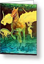 The Seahorse Greeting Card by Henryk Gorecki