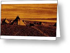 The Searchers Homage 1956   Wig-wam Village Variation #1 1890's Greeting Card