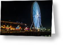 The Seattle Great Wheel 2 Greeting Card