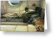 The Secret Greeting Card by Sir Lawrence Alma-Tadema