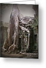The Secrets Of Angkor Greeting Card by Eena Bo