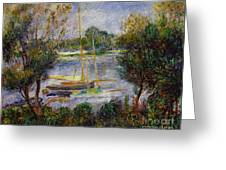 The Seine At Argenteuil Greeting Card by Pierre Auguste Renoir