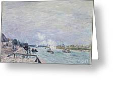 The Seine At Grenelle  Greeting Card