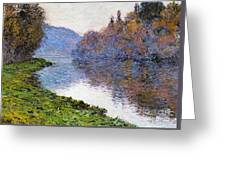 The Seine At Jenfosse Greeting Card