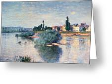 The Seine At Lavacourt Greeting Card by Claude Monet