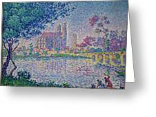 The Seine At Mantes, By Paul Signac, 1899-1900, Kroller-muller M Greeting Card