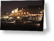 The Seine At Night Greeting Card