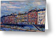 The Seine In Paris Greeting Card
