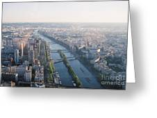 The Seine River In Paris Greeting Card