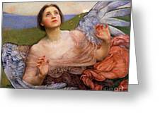 The Sense Of Sight By Annie Swynnerton  Greeting Card