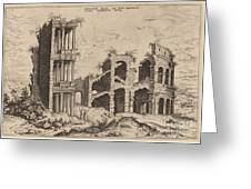The Septizonium And The Colosseum Greeting Card