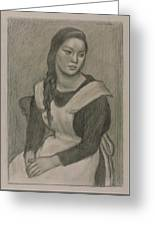 The Servant Girl Painting Greeting Card