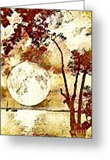 The Setting Moon Greeting Card