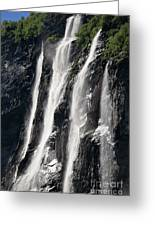 The Seven Sister Waterfall Greeting Card