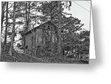 The Shack In Black And White Greeting Card