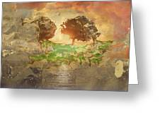 The Shadow Of Olives Greeting Card