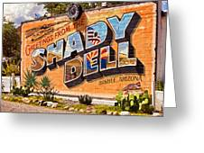 The Shady Dell Bisbee Az Greeting Card