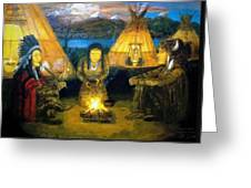 The Shamans Council Greeting Card