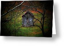 The Shed Greeting Card by Michael L Kimble