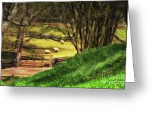 The Sheep's In The Meadow Greeting Card