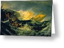The Shipwreck Of The Minotaur Greeting Card
