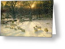 The Shortening Winters Day Is Near A Close Greeting Card