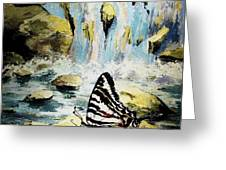 The Silence Of The Waterfall 2 Greeting Card
