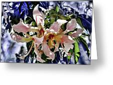 The Silk Flowers Greeting Card