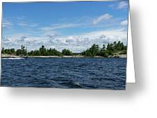 The Silver Bullet - Little Silver Boat Speeding Along Greeting Card