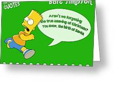 The Simpsons Greeting Card