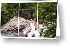 The Sinks Smoky Mountains Triptych Greeting Card
