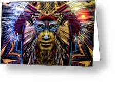 The Sioux Spirit - The Plumed Lion Greeting Card