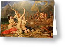 The Sirens And Ulysses Greeting Card