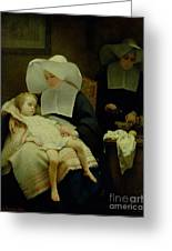 The Sisters Of Mercy Greeting Card by Henriette Browne