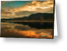 The Skaha Sunrise Greeting Card