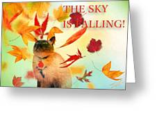 The Sky Is Falling Greeting Card