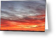 The Sky Is Smoking Hot In Widescape Greeting Card