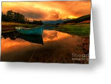 The Sky's On Fire Greeting Card