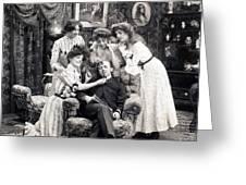 The Sleepy Lover, 1902 Greeting Card