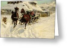 The Sleigh Ride Greeting Card