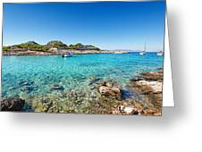 The Small Island Aponisos Near Agistri Island - Greece Greeting Card