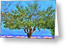 The Smiling Tree Of Benitses Greeting Card