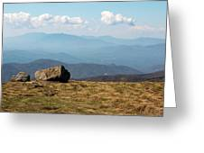 The Smokies From Roan Mountain I Greeting Card