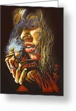The Smoking Senorita Greeting Card
