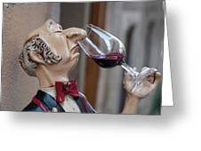 The Snooty Wine Sniffer Greeting Card
