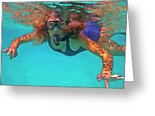 The Snorkeler Greeting Card