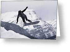 The Snowboard Championships Were Held Greeting Card by George F. Mobley