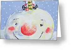The Snowman's Head Greeting Card
