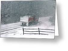 The Snowplow Greeting Card
