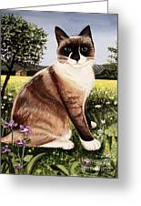 The Snowshoe Cat Greeting Card
